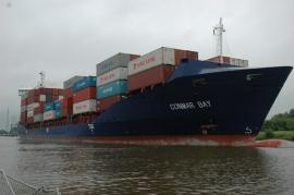 Containerschip Noord Oostzee Kanaal