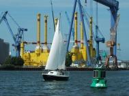 Warnemünde boortoren scheepswerf