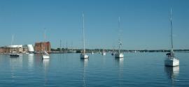 Stralsund wachten voor brug