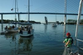 Stralsund klapbrug passage