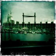 Cuxhaven zicht vanuit jachthaven