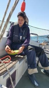 broodje worst op zee