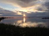 Zonsondergang Lyø Havn